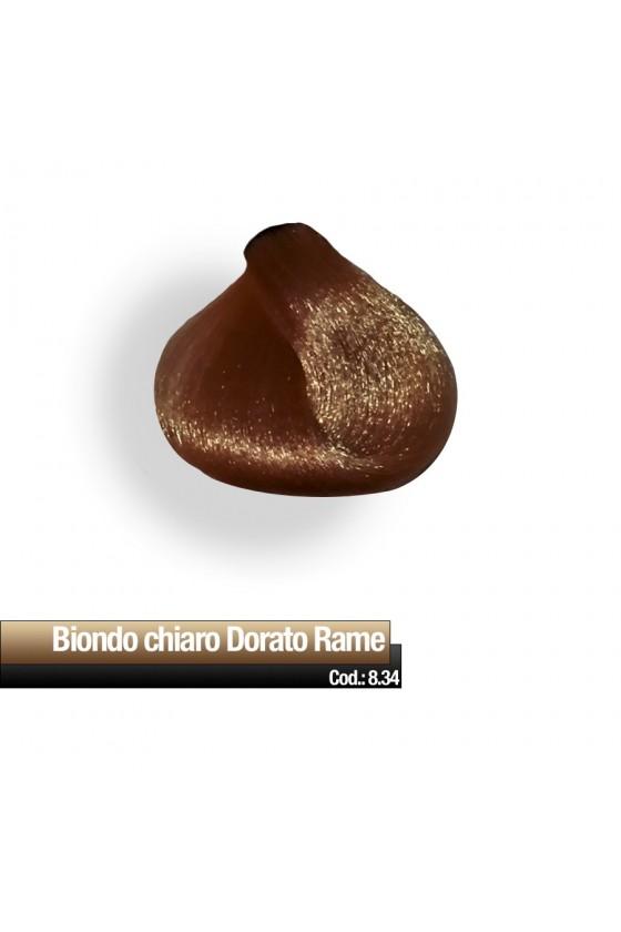 CREMA COLORE 8.34 BIONDO CHIARO DORATO RAME RR