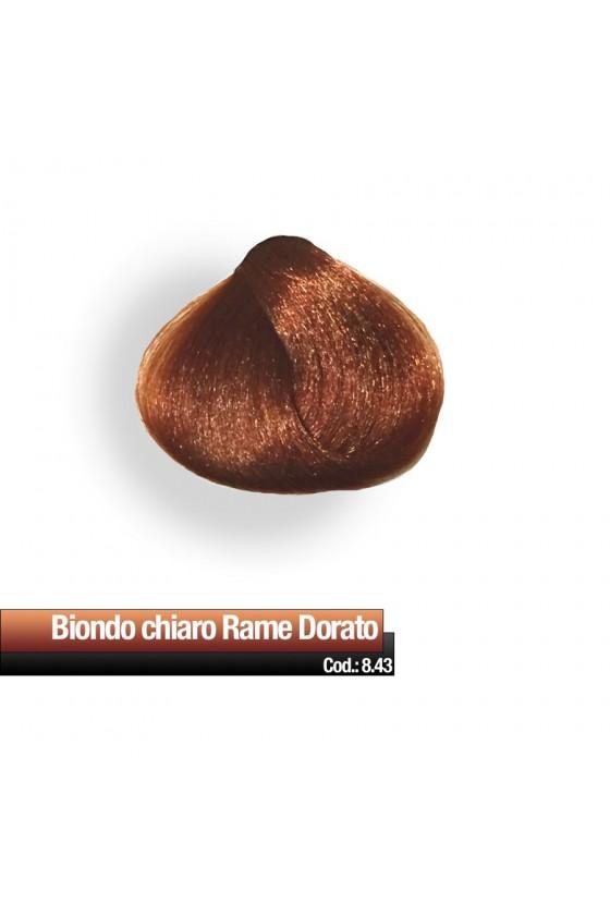 CREMA COLORE 8.43 BIONDO CHIARO RAME DORATO RR