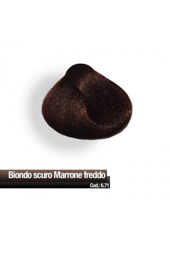 CREMA COLORE 6.71 BIONDO SCURO MARRONE FREDDO RR